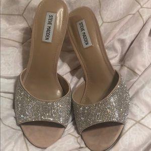 Steve Madden backless rhinestone heels
